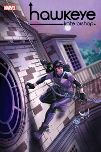 Cover of issue #2, featuring Kate on the side of the building at night, exploring.